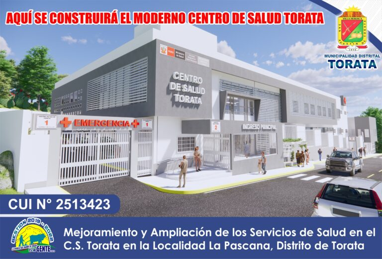 MODERNO CENTRO DE SALUD TORATA PERMITIRÁ BRINDAR UN SERVICIO MEDICO DE CALIDAD EN EL DISTRITO