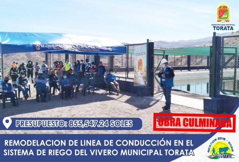 MUNICIPALIDAD DE TORATA FORTALECE LA CAPACIDAD PRODUCTIVA DEL VIVERO MUNICIPAL DE TORATA