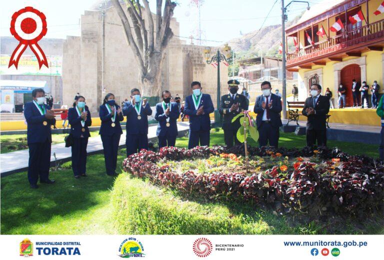AUTORIDADES DE TORATA DESARROLLARON ACTIVIDADES POR EL BICENTENARIO DE LA INDEPENDENCIA DEL PERU