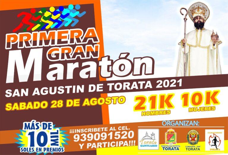 ATLETAS DE TODO EL PERU PARTICIPARAN DE LA GRAN MARATON EN HONOR A SAN AGUSTIN DE TORATA