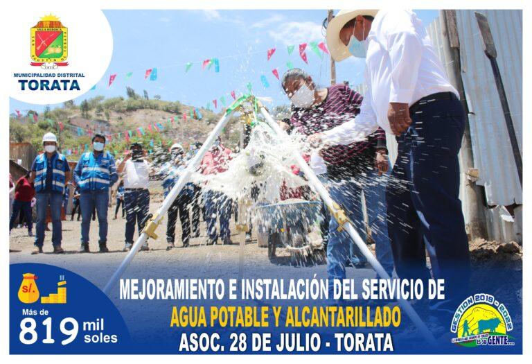 MUNICIPALIDAD DE TORATA INICIA LA INSTALACION DE AGUA POTABLE Y ALCANTARILLADO EN LA ASOCIACION DE VIVIENDA 28 DE JULIO