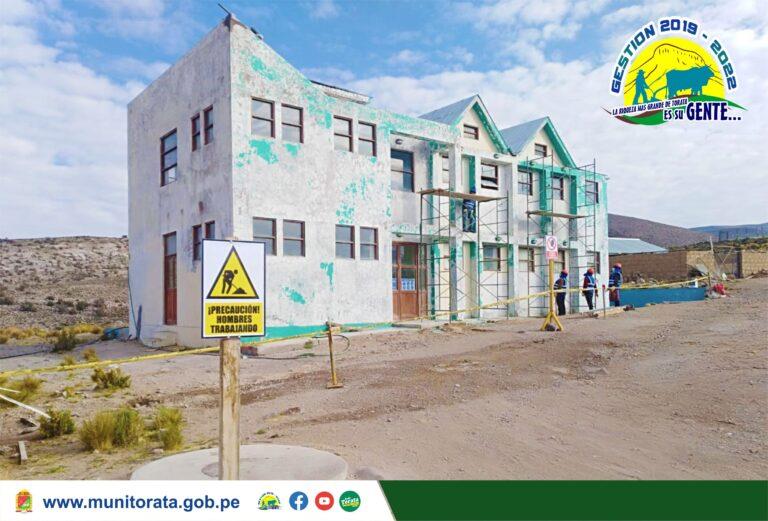 MUNICIPALIDAD DE TORATA VIENE MEJORANDO LAS INSTALACIONES DEL LOCAL COMUNAL DEL SECTOR DE QUEBRADA HONDA
