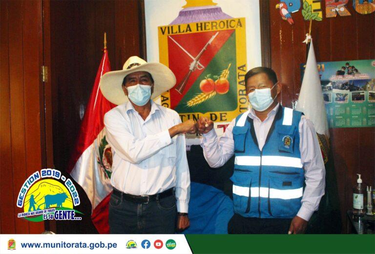 ALCALDE DE TORATA SE REUNE CON CONGRESISTA SAMUEL COAYLA PARA ARTICULAR GESTIONES EN BENEFICIO DEL DISTRITO